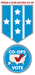 Five Start Co-op Vote Logo